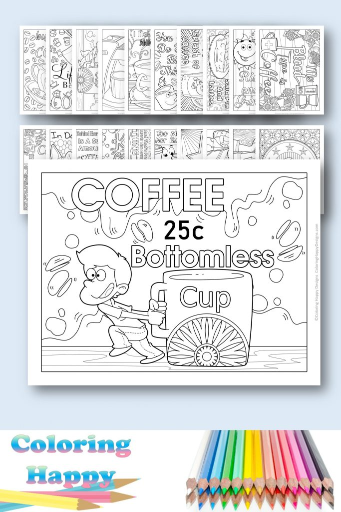 Coffee lovers coloring pages