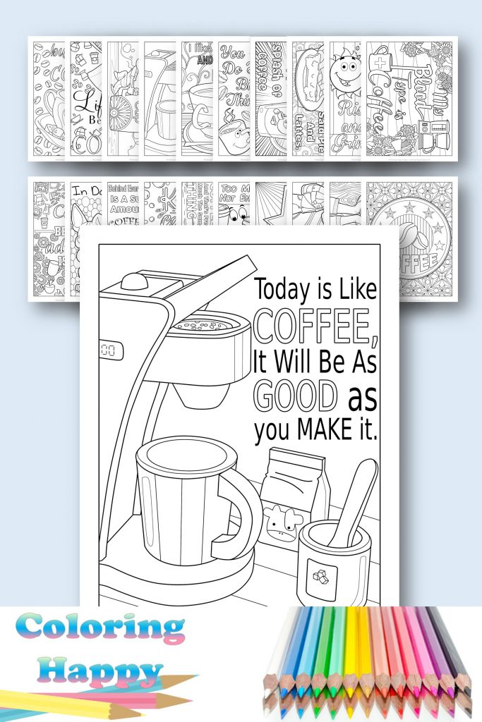 coffee coloring pages to print