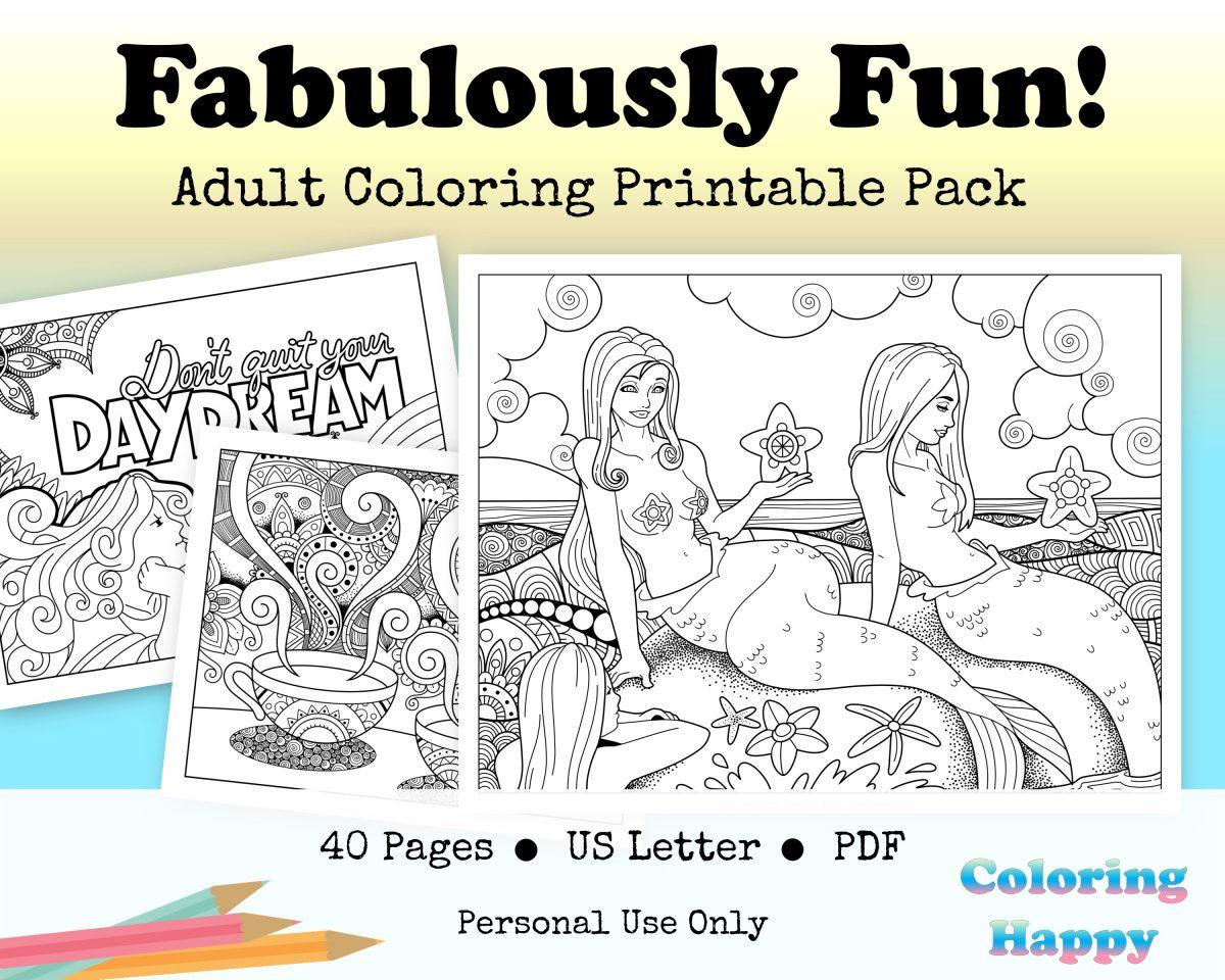 Fun & Fabulous Coloring Printable Pack