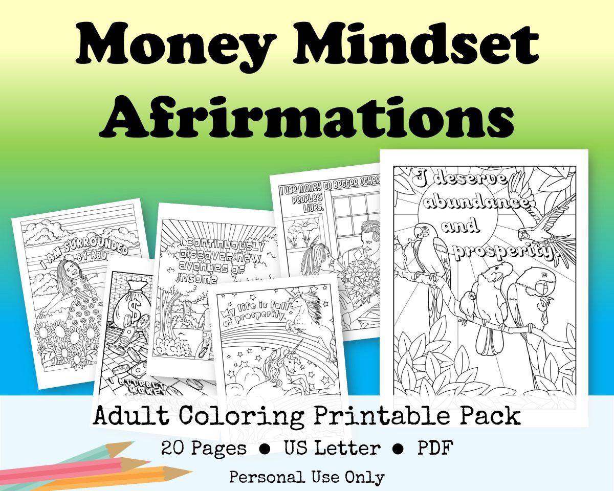 Money Mindset Coloring Printable Pack
