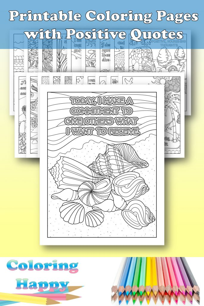 Printable Coloring Pages With Positive Quotes |