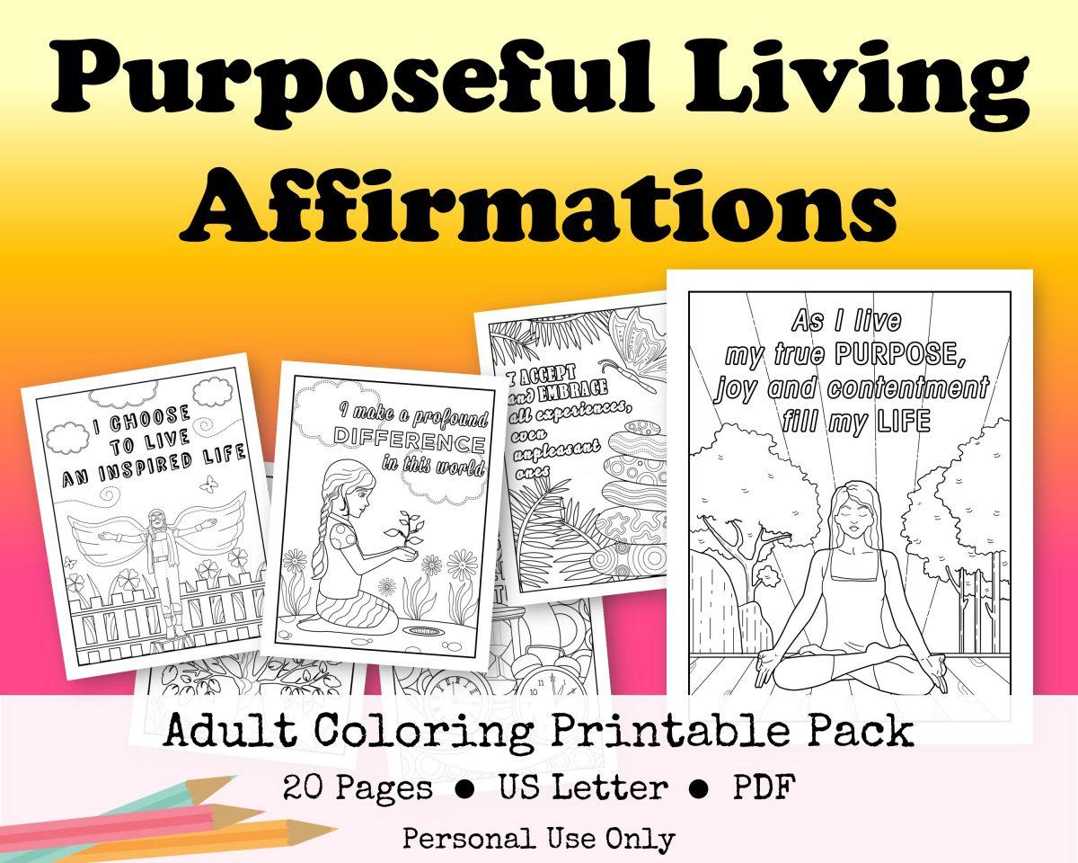 Purposeful Living Coloring Printable Pack