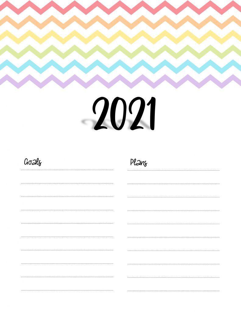 Printable 2021 Calendar Cover Page