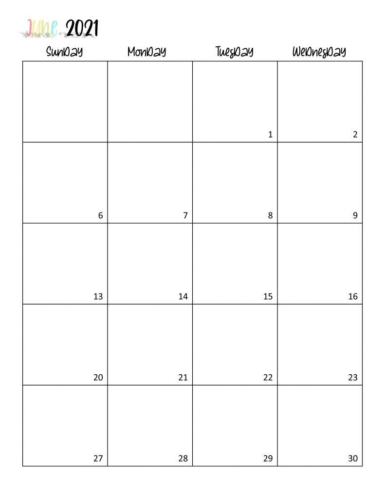 Printable 2021 Calendar Page 12