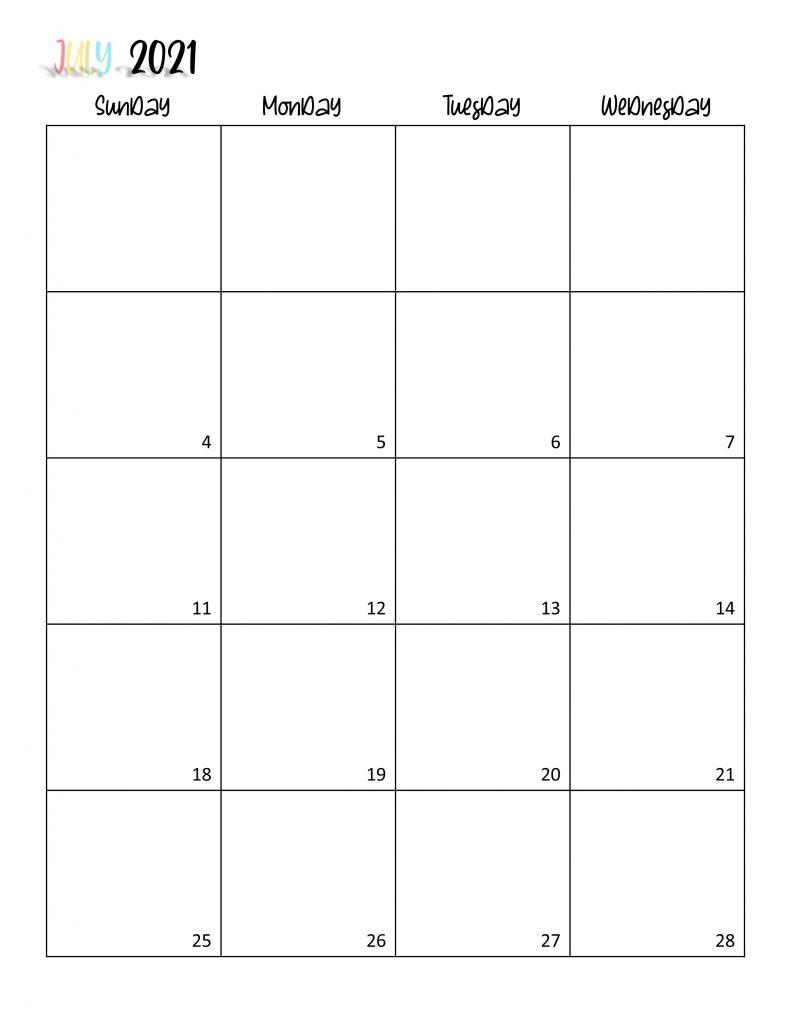 Printable 2021 Calendar Page 14