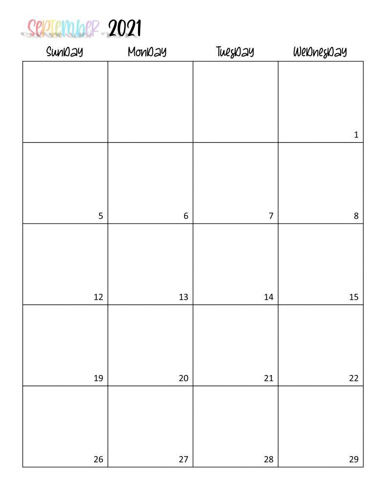 Printable 2021 Calendar Page 18