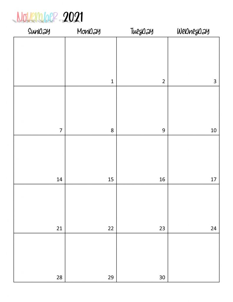 Printable 2021 Calendar Page 22