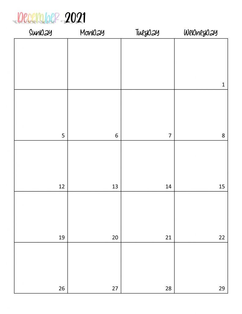 Printable 2021 Calendar Page 24