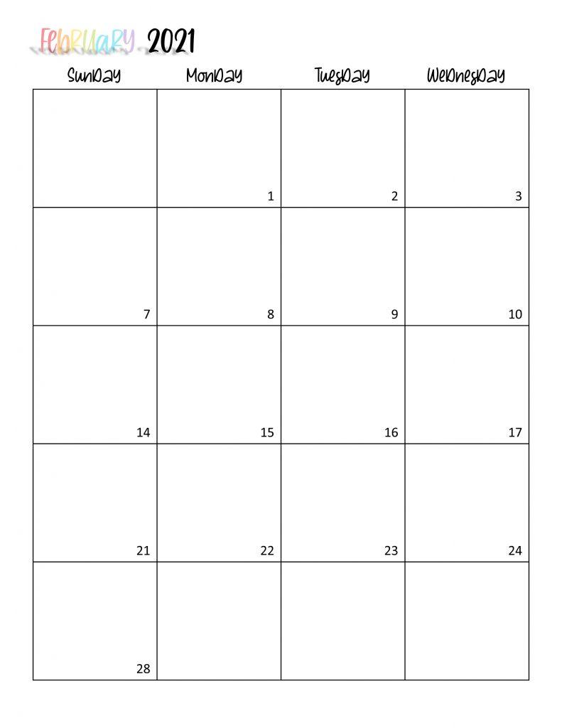 Printable 2021 Calendar Page 4