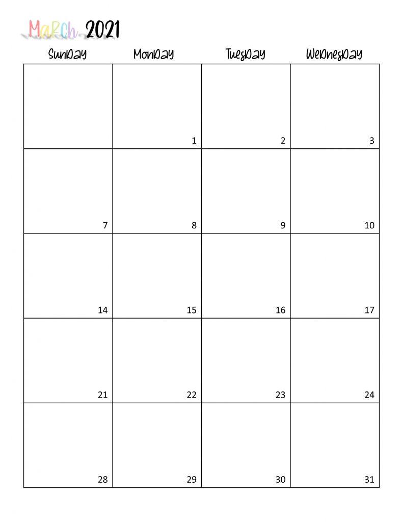 Printable 2021 Calendar Page 6