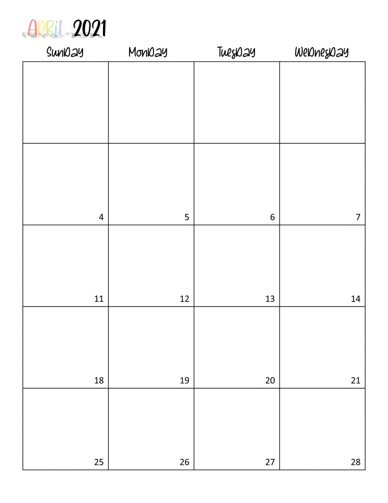 Printable 2021 Calendar Page 8
