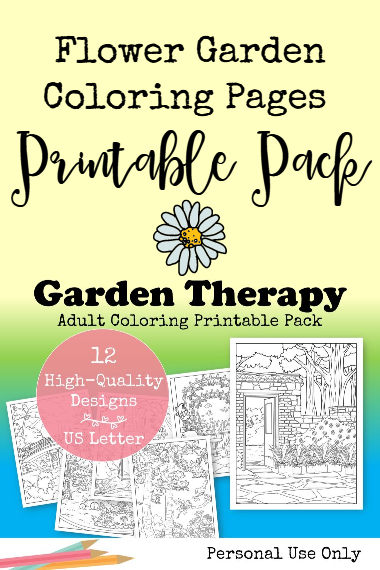 Flower Gardening Coloring Pages Printable Pack