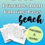 Beach Quote Coloring Pages for Adults